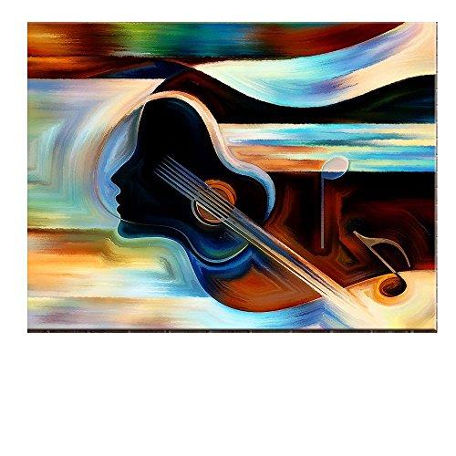 TTKX@@ Moderne Wanddekorationen Wohnzimmer Abstrakte Musikinstrumente Violine Ölgemälde Leinwand Kunst Wandbild Bilder, 60X80 cm