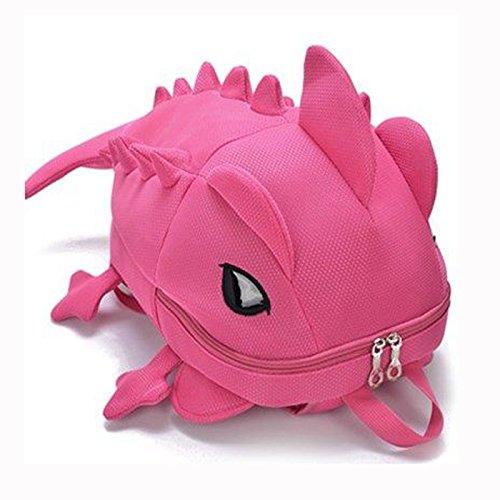 ZOUQILAI Mochila Animal de dibujos animados Bolsa de hombro Mochila adolescente Hombres y niñas Lagarto camaleón Bolsa diaria de viaje Selección multicolor (Color : Pink)