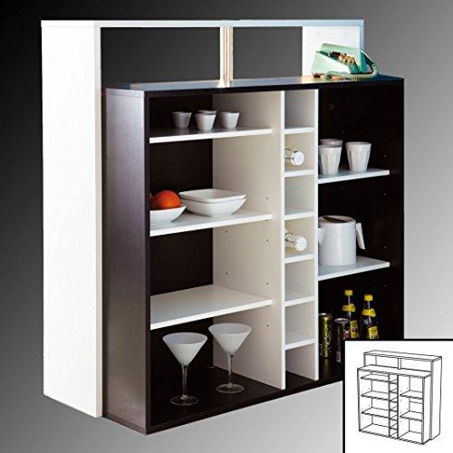 habeig KÜCHENTRESEN schwarz weiß Theke Bar Tresen Stehtisch Empfangstresen Küchenbar (Schwarz/Weiss) -