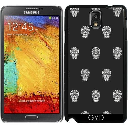 DesignedByIndependentArtists Hülle für Samsung Galaxy Note 3 (GT-N9500) - Schädel-Muster B & W by More Colors in Life