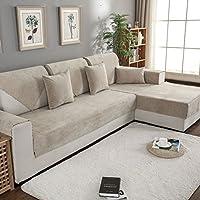 TT&CC Funda de sofá de Felpa,Orina Impermeable Antideslizante para Mascotas Perro bebé sofá Protector Color sólido salón combinación sofá Toalla -D 70x150cm(28x59inch)