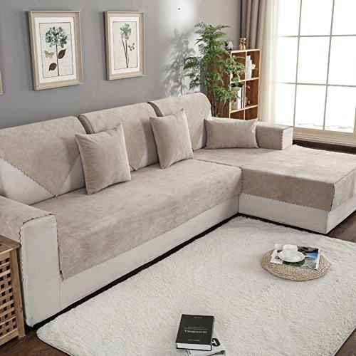 DW&HX Sofa abdeckung wasserdicht Für haustier hund Anti-rutsch Water resistant Sofa Überwurf Sofa throw Schnitt Multi-size-Khaki 110x180cm(43x71inch) (Pet Protector Schnitt)
