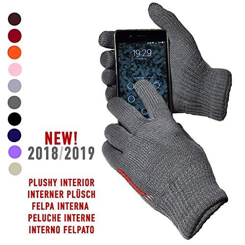 AXELENS Guanti Touch Screen Capacitivi per Smartphone Cellulari e Tablet Universali Unisex Grigio Scuro