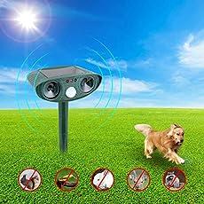 Lepakshi Solar Waterproof Animal Repeller Outdoor Solar Powered Cat Dog Rep