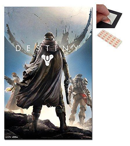 Garnitur - 2 Artikel - 'Destiny' Videospiel Deckel Plakat - 91,5 x 61cm (36 x 24 Zoll) und ein Set 4 stück Repositionierbar Klebepads Für Einfache Wandbefestigung Videospiel-poster 24x36