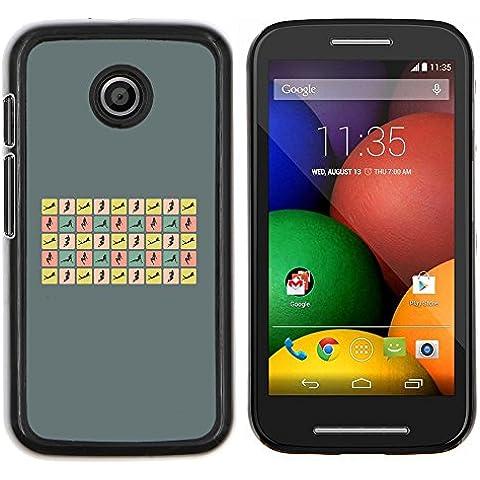 Copertura di plastica Shell Custodia protettiva || Motorola Moto E ( 1st Generation ) || Donna sexy pone Curvy Corpo Hour Glass @XPTECH