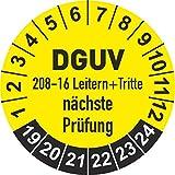 DGUV 208-16 Prüfplaketten 2019 Ø 20 mm: mehrjährig - 250 Stück - aus hochwertiger Haftfolie - Staffelpreise unter Amazon Business ab 3, 6, 11 VE