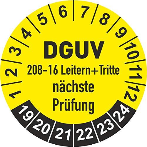 DGUV 208-16 Prüfplaketten 2019 Ø 30 mm: mehrjährig - 250 Stück - aus hochwertiger Haftfolie - Staffelpreise unter Amazon Business ab 3, 6, 11 VE