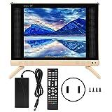Simlug TV LCD, TV LCD ad Alta Definizione da 19 Pollici Mini televisore Portatile con qualità del Suono dei Bassi(110v-240v)
