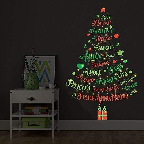 Pegatinas decorativas navideñas texto inglés brilla