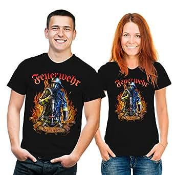 Fun T-Shirt: Feuerwehr - Real Heroes S,Schwarz