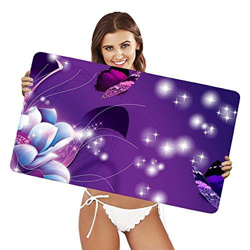 Preisvergleich Produktbild XtremePads [ Große XXL Gaming-Maus-Pad / Mat Schreibtischunterlage ] - ( Artistic Butterfly Flower Purple Sparkles )