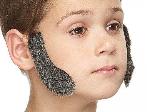 Mustaches Selbstklebende Kleiner Fälschen Hammelfleisch Hiebe Koteletten für Kinder Salz und Pfeffer Farbe