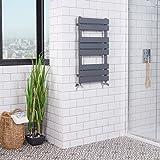 WarmeHaus Designer Handtuchheizkörper Badheizkörper Handtuchhalter 800x450mm Grau