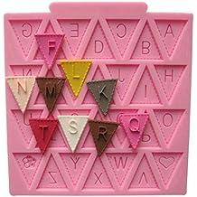 Molde de silicona para decoración de pasteles con diseño de letra ...