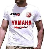 Print & Design T-Shirt Maglietta Yamaha YZF-R6 Personalizzata Bianca (l)
