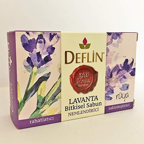 Deflin ✔ Lavendel & Kräutermischung Seifen - (%100 Natur Shampoo) Entspannend - Feuchtigkeits - Beruhigend