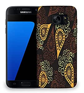 Snoogg Yellow Pattern Designer Protective Phone Back Case Cover For Samsung Galaxy S7