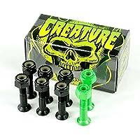 "Creature csfu Negro/Verde–Tabla de skate (pernos 1"""