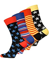 8 paires de chaussettes originales Vincent Creation Hommes Multicolor 41-45 EU One Size 41-45 Multicolore