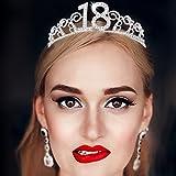 Frcolor Anniversaire diadème Couronne cristal strass Reine princesse bandeau avec peigne pour la fête des 18 ans de la jeune fille