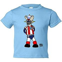Camiseta niño Mazinger Z colchonero el atleti de los 80 Atlético de Madrid - Celeste