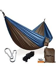 Hamac de Camping Portable ( 3ème génération), Wolfyok Multi-fonction Ultra-léger Hamac en Nylon Parachute, Hamac en plein air / Voyage / Jardin / Randonnée