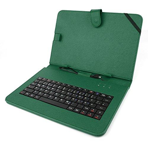 DURAGADGET Tastatur-Hülle mit DEUTSCHER QWERTZ-Belegung, kompatibel mit ODYS Tablet PCs (siehe Produktbeschreibung) (10 Zoll - Grün)