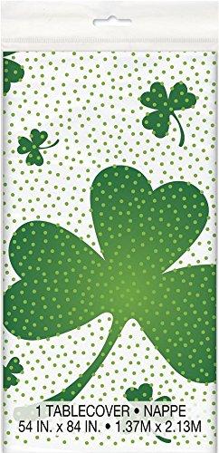Unique Tischdecke, für St.-Patrick-Day-Partys, Motiv: irisches Shamrock, Kunststoff