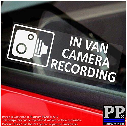 Preisvergleich Produktbild 5 x klein Van Kameraaufzeichnung Fenster Wandsticker 87 mm x 30 mm -CCTV Warntafel, LKW, Van, Hellblau, Courier, Transit