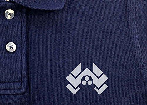 Die Hard: Nakatomi Herren Vintage Pique Polo Blau - Vintage Navy