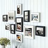 #6: Art street - Black and White Boulevard set of 11 individual wall photo frame for wall hanging (8-6X8, 3-8X10)