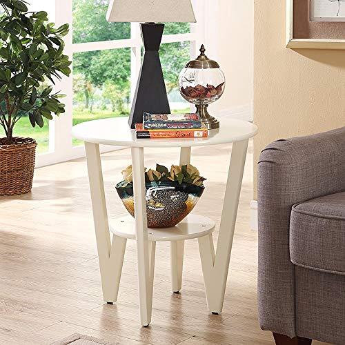 5 IN 1 TABLE XIAOYAN Beistelltisch Runder Beistelltisch, Kleiner Couchtisch Multifunktionsregal Home Office Computertisch, Nussbaum Farbe, Weiß Mehrzweck (Farbe : Weiß) -