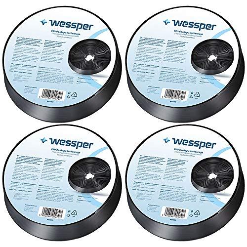 Wessper Aktivkohlefilter für Akpo WK-4 NERO 60 BLACK (4 Stück)
