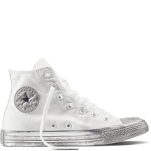 Converse - 156769C CT AS HI Canvas Color Rubber, sneakers unisex, White/Silver Bianco