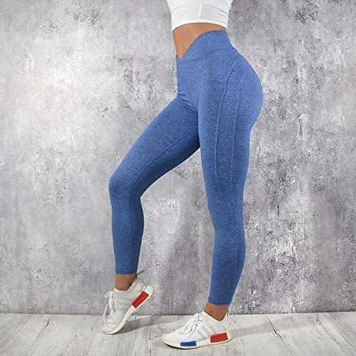 Ayujia Yogahosen Frauen Sportbekleidung Athleisure Bodybuilding Geraffte Legging Fitness Kleidung Sportliche Jegging Push Up Hohe Taille Leggings -