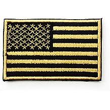 aquiver bordado parche bordado de la bandera americana patriótico EE. UU. Militar coser parche, mezcla de algodón, Patch5, Patch1