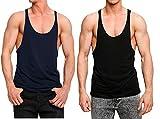 #7: Blaze Men's Cotton Stringer Y Back Bodybuilding Gym Tank Top