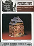 "Kartonmodell Schreiber - Bogen Nr. 71350: ""Albrecht-Dürer-Haus in Nürnberg"", 1:160 - 1,5 Bögen - LxBxH = 11x9x14 cm -"