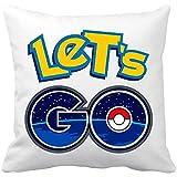 Cuscino con imbottitura Pokemon Go Let' s Go 35 x 35 cm bianco