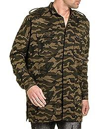 Sixth June - Chemise homme longue camouflage oversize coupe extra large