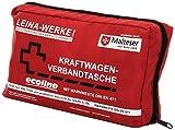 Leina Werke 11060 KFZ-Verbandtasche Compact Ecoline mit Warnweste und Klett, Rot/Schwarz/Weiß
