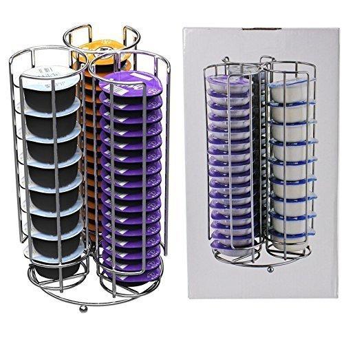 Spares2go 48 T-Disc Rack Soporte para Bosch Tassimo máquina de café Cápsula Cápsulas (48 cápsula Torre Dispensador)