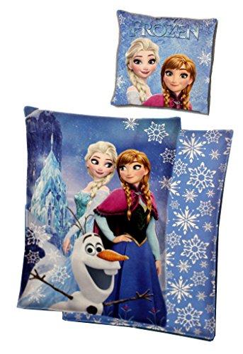 Disney Frozen Die Eiskönigin Kinder Biber Bettwäsche Set 140 x 200cm 70 x 90cm Blau