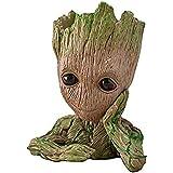 Eitheo Cute Baby Groot Model Action Figure PVC Pen Stand Cum Flower Pot Planter