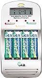tka Köbele Akkutechnik Ladegerät für Akku-Zelle: Schnell-Ladegerät für Akkus Typ AA/AAA, mit LCD-Display (Universal-Akku-Schnell-Ladegeräte)