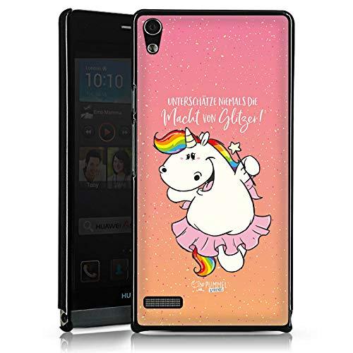 DeinDesign Huawei Ascend P6 Hülle Case Handyhülle Pummeleinhorn Spruch Einhorn