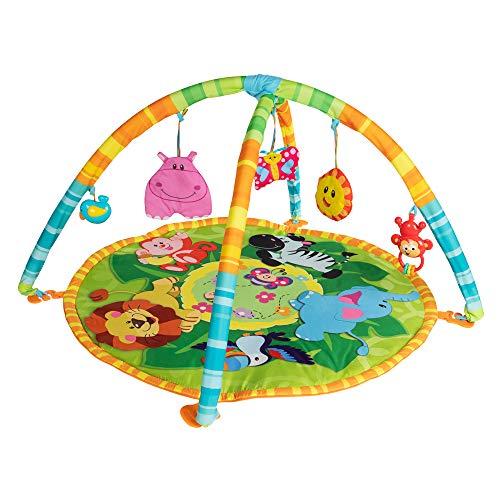 winfun- Alfombra de Actividades 3 en 1 para bebés con Animales de la Jungla (ColorBaby 46321)