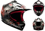 ARROW AKC-49 Titan Sport Cross-Bike Racing Bambino Off-Road Scooter Casco Moto-Cross Junior Kids...