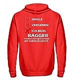 Hochwertiger Zip-Hoodie - Hochwertiges Baggerfahrer Shirt